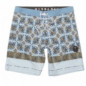 Vissla Seafarer board swim shorts blue tribal 31